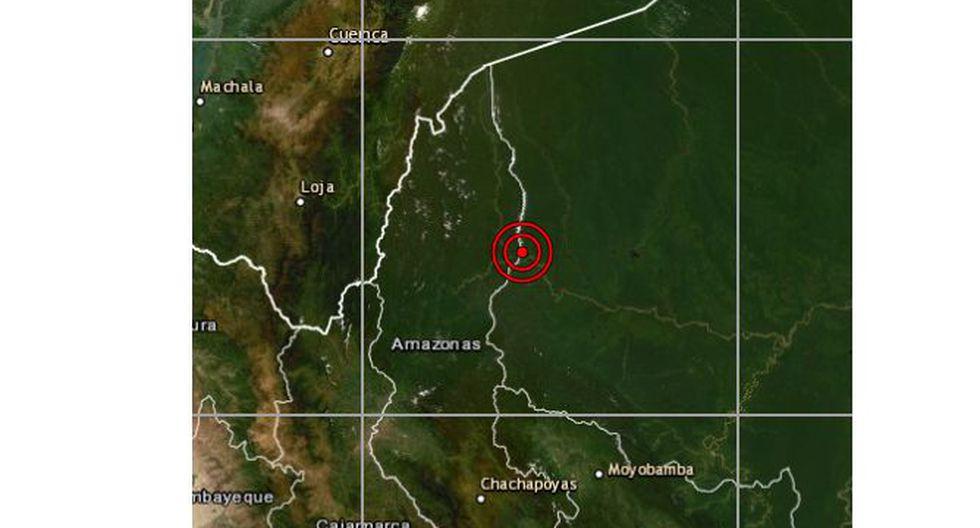 El sismo no causó daños ni víctimas en la región Amazonas. (Foto: IGP)