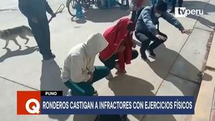 Puno: ronderos castigan con ejercicios físicos a jóvenes sorprendidos en bares clandestinos (VIDEO)