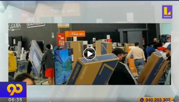 Chile: Ciudadanos compran televisores y electrodomésticos tras retiro del 10% de AFP (Captura: Latina/Mega)