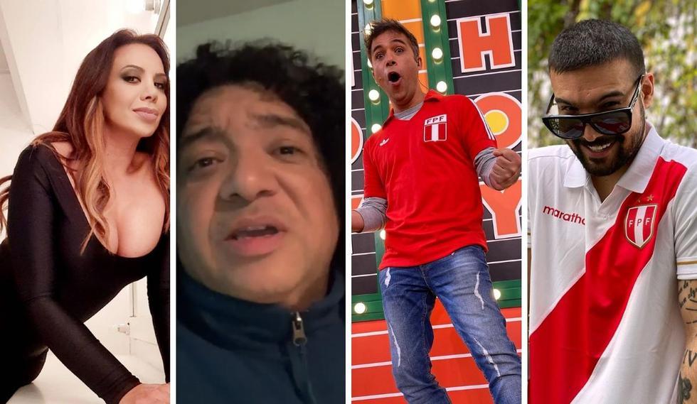 Varios personajes de la farándula se animaron a compartir su opinión sobre el resultado del partido Perú vs. Brasil. (Fotos: Instagram / @la_cabrejos / @schullerrenzoof / @eziooliva / @mitiovilchezoficial).