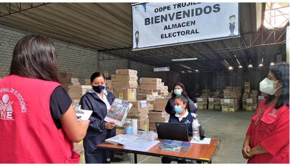La Oficina Descentralizada de Procesos Electorales Trujillo lo trasladará a las localidades más lejanas este viernes.