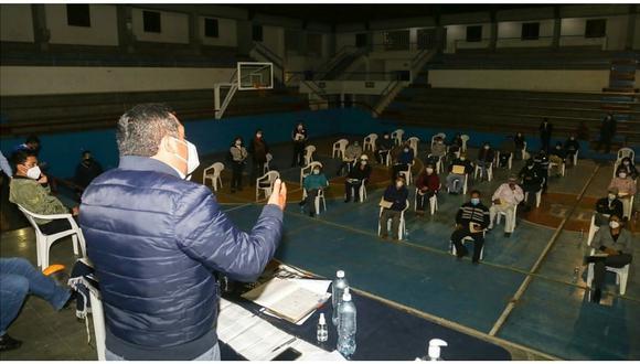 Alcalde de Trujillo se reúne con autoridades de 59 territorios vecinales