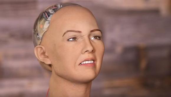 Sofía, la robot que quiere destruir a la humanidad   Foto: Captura de pantalla.