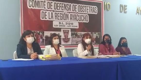 En conferencia de prensa obstetras anunciaron medidas