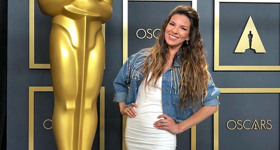 """Oscars 2020: Carmen Sarahí, artista que prestó su voz a Elsa en """"Frozen II"""", llegó a la alfombra roja. (Foto: Instagram)"""
