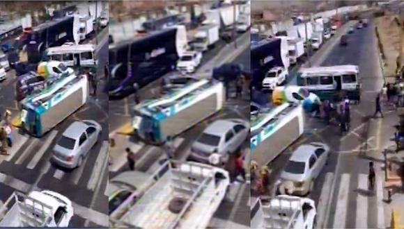 Ancón: seis heridos deja un accidente de cúster en la Panamericana Norte (VIDEO)