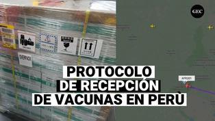 De esta manera Perú recibe el primer lote de vacunas