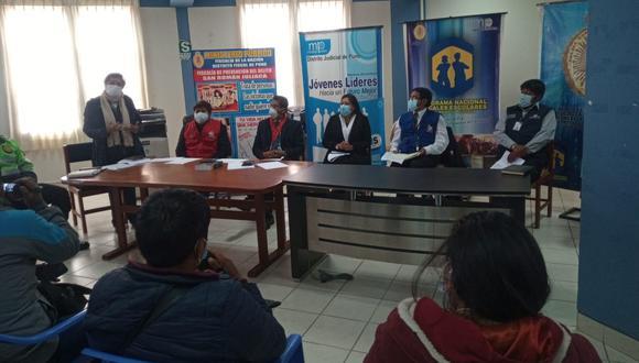 El jefe policial y otras autoridades, sostuvieron una reunión de coordinación sobre los comicios del domingo. (Foto: Feliciano Gutiérrez)