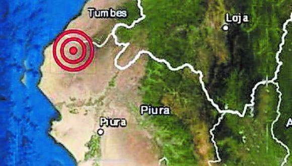 El Instituto Geofísico del Perú informó que el movimiento tuvo una magnitud de 5.4.