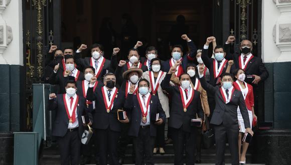 Perú Libre presentó una lista multipartidaria para la Mesa Directiva del Congreso. (Foto: Anthony Niño de Guzmán / @photo.gec)