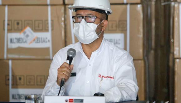Ministro de Salud participó en una conferencia en el marco del trigésimo quinto día del estado de emergencia nacional. (Foto: Minsa)