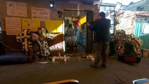 Testigos cuentan que el homenaje a la pequeña Fátima en México fue muy emotivo. (Captura de video)