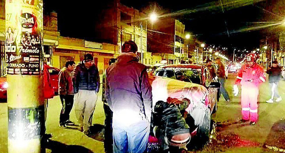 Racha de accidente pone  en alerta a policías y transeúntes en Puno