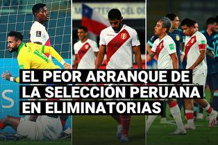 """El peor arranque de la selección peruana en las Eliminatorias con formato """"todos contra todos"""""""