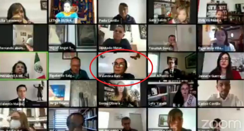 Diputada de México usa su foto para fingir estar presente en sesión virtual del Congreso (VIDEO)