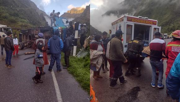 Hasta el lugar llegaron los bomberos y trasladaron al herido con dirección a Macusani. (Foto: Difusión)