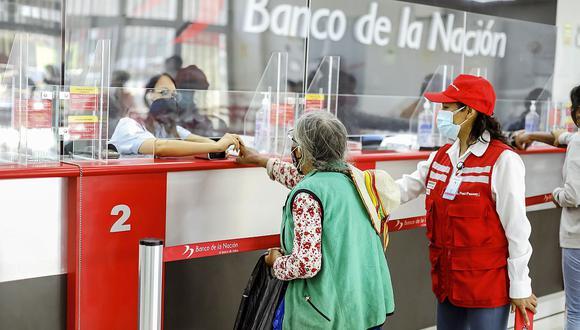 El bono ya se reparte en el Banco de la Nación. (Foto: GEC)