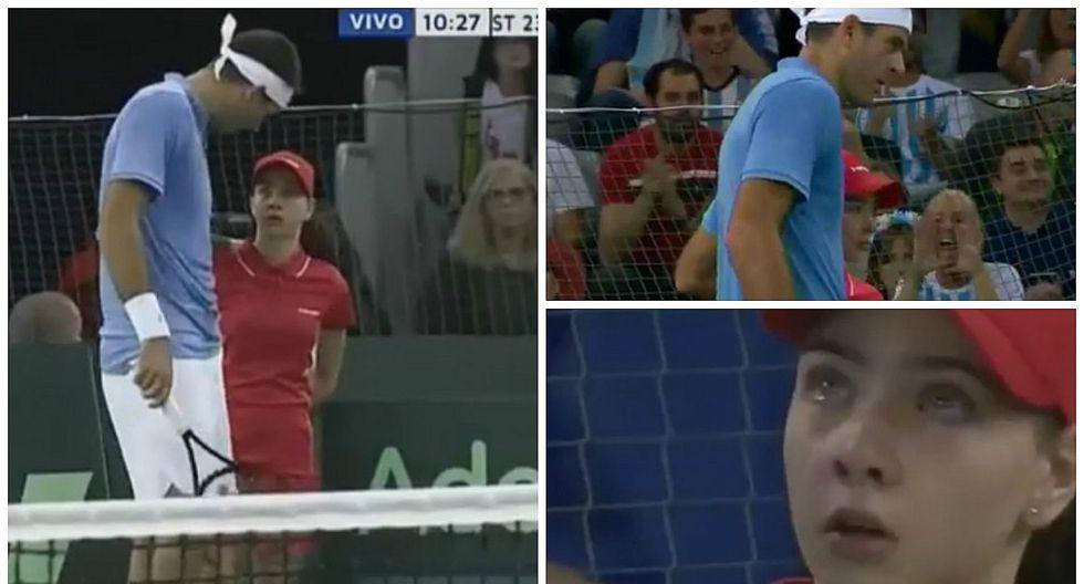 Del Potro: el gran gesto de tenista con recogebolas que sufrió pelotazo de rival (VIDEO)