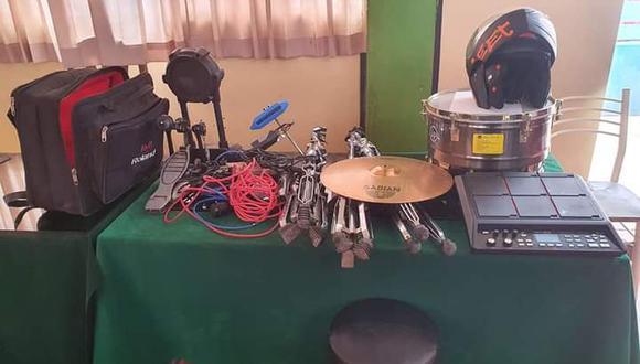 Los instrumentos recuperados fueron trasladados hasta la Comisaría Sectorial de Juliaca. (Foto: Feliciano Gutiérrez)