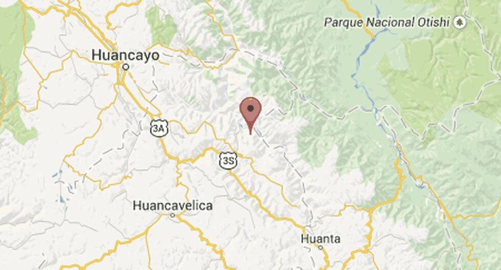 Sismo de 3.8 grados se registró en Huancavelica