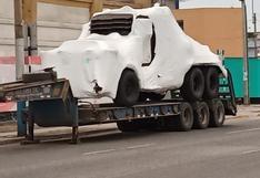 Vehículos de Transformers llegaron a Cusco para iniciar grabación de película (VIDEO)