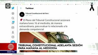 Tribunal Constitucional adelanta sesión para este lunes 16 de noviembre al mediodía
