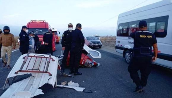 El conductor del vehículo menor murió instantáneamente tras la colisión. Su cuerpo fue trasladado a la morgue para la necropsia de ley.