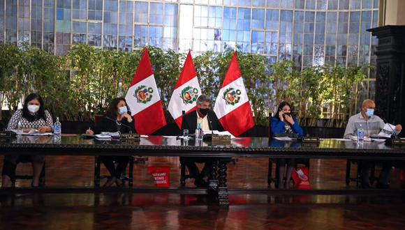 Presidente Francisco Sagasti encabezó sesión del Consejo de Ministros. (Foto: PCM)