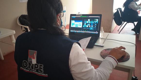 ONPE capacita a coordinadores distritales y centros poblados de la región Ica