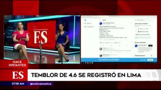 Sismo en Lima: Conductoras de América Noticias informaron así del movimiento telúrico (VIDEO)