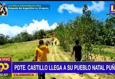 Pedro Castillo viajó a su pueblo natal para visitar a sus padres que estarían delicados de salud, según Latina (VIDEO)
