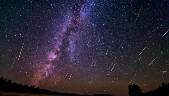 Un ejemplo de cómo se verán las lluvias de estrellas en diciembre del 2020. | Foto: Referencial