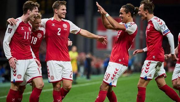 Selección de Dinamarca clasificó a la Copa del Mundo Qatar 2022. (Foto: EFE)