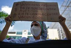 Venezuela: Médicos y enfermeras protestan para pedir vacunas contra el COVID-19 (FOTOS)