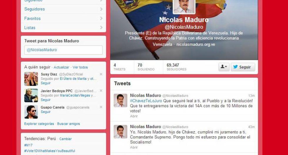 Nicolás Maduro estrena Twitter