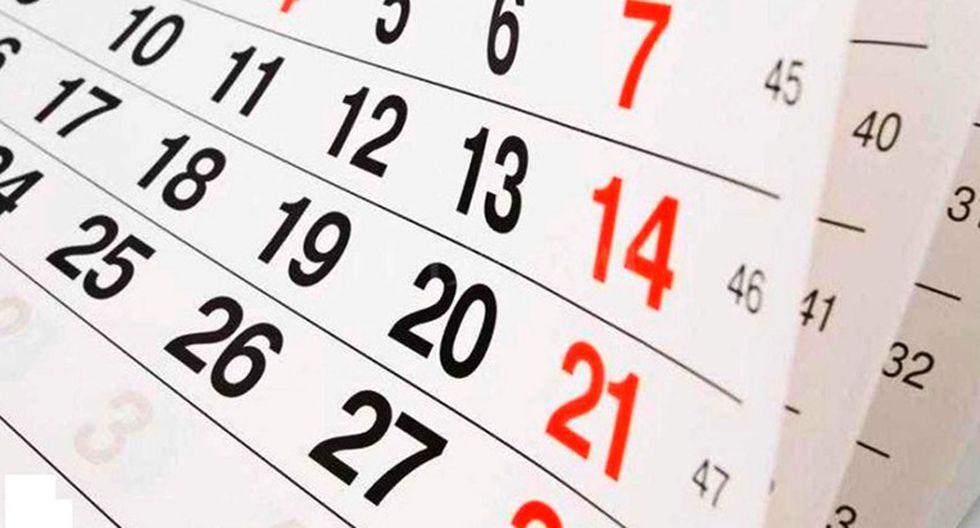 Conoce aquí la lista completa de días feriados del próximo año
