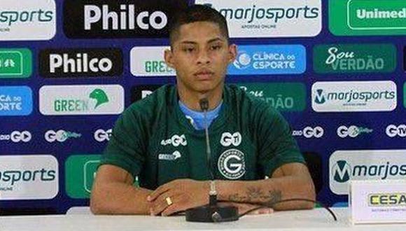 Kevin Quevedo hizo su estreno oficial con camiseta de Goiás en la liga. (Foto: Goiás)