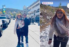Magaly Medina y su esposo se escaparon a Park City de EE.UU. y se divierten en la nieve (FOTOS)