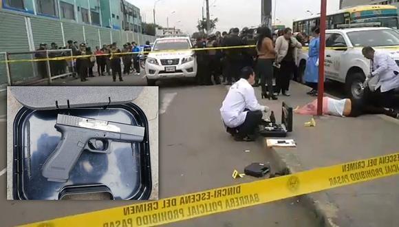 Policía abate a presunto delincuente que intentó asaltar en una combi en el Callao (VIDEO)