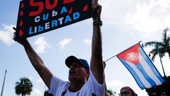 """El presidente Joe Biden señaló hoy que """"Estados Unidos seguirá sancionando a los responsables de la opresión del pueblo cubano"""". (Foto: Eva Marie UZCATEGUI / AFP)"""