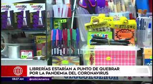 Librerías estarían a punto de quebrar por la pandemia del coronavirus