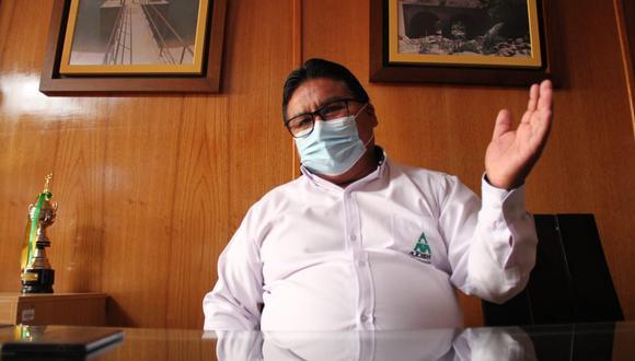 Gerente de Autodema, Napoleón Ocsa, dio detalles de la mitigación de riesgos de Majes Siguas II  Foto: Zintia Fernández