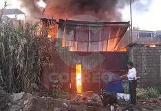 Incendio en almacén causó pánico en el distrito de Socabaya en Arequipa (FOTOS Y VIDEOS)