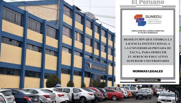 Universidad Privada de Tacna logra licenciamiento institucional de la SUNEDU