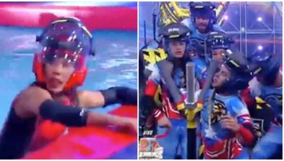 Equipo de 'EEG Perú' debutó en 'Guerreros: Puerto Rico' y todos perdieron. (Fotos: Captura Puerto Rico TV)