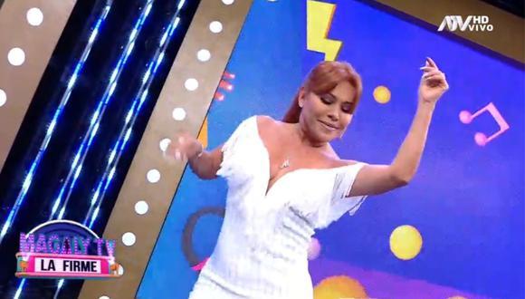 """Magaly Medina inició la tercera temporada de """"Magaly TV: La Firme"""" en ATV. (Foto: Captura ATV)."""