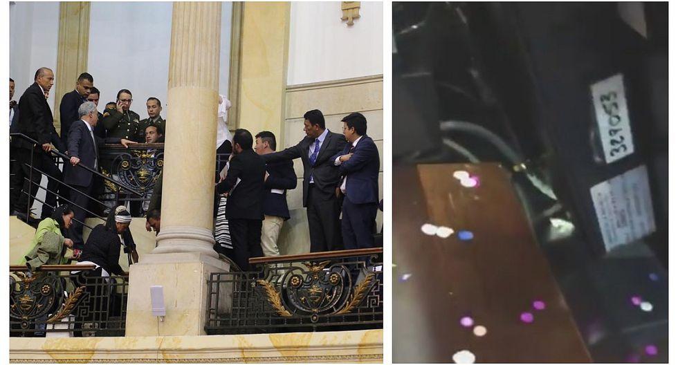 Lanzan bolsa con ratones a congresistas colombianos (VIDEO)