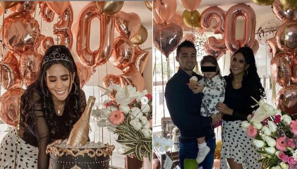 Melissa Paredes recibió su cumpleaños número 30 de la mejor manera. (Instagram  Melissa Paredes / Rodrigo Cuba)