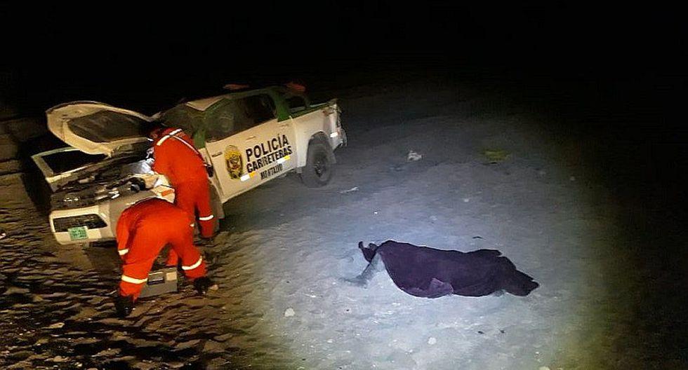 Policía natural de Mollendo fallece en accidente de tránsito a bordo de patrullero