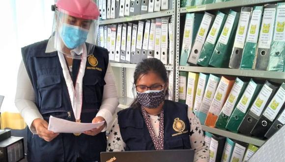 Incautan documentación de las áreas de Infraestructura, Tesorería y Secretaría General de la municipalidad distrital.